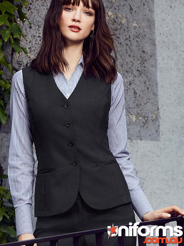 54012 Womens Long Line Vest biz corporates