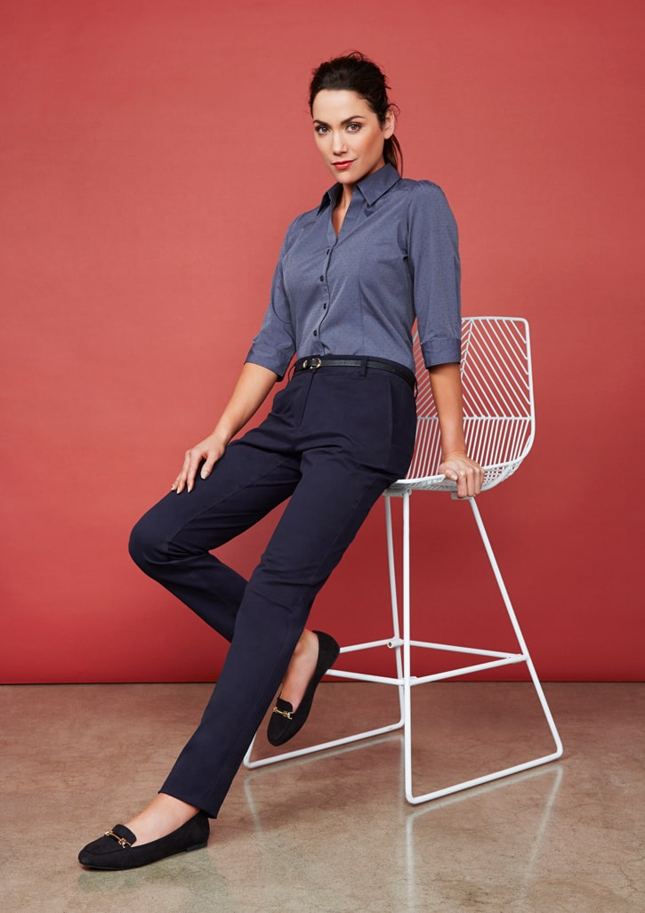 LADIES MODERN WASHED-IN SOFT LAWSON CASUAL//OFFICE//WORK CHINO PANTS SZ 6-26