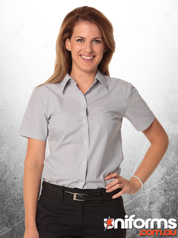 healthcare uniforms online Womens Fine Stripe S/S Shirt