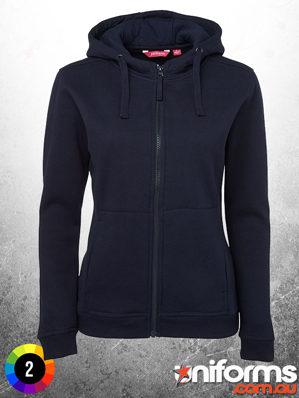 3HJ1 Ladies Full Zip Fleece Hoodie Navy  1581035524 874