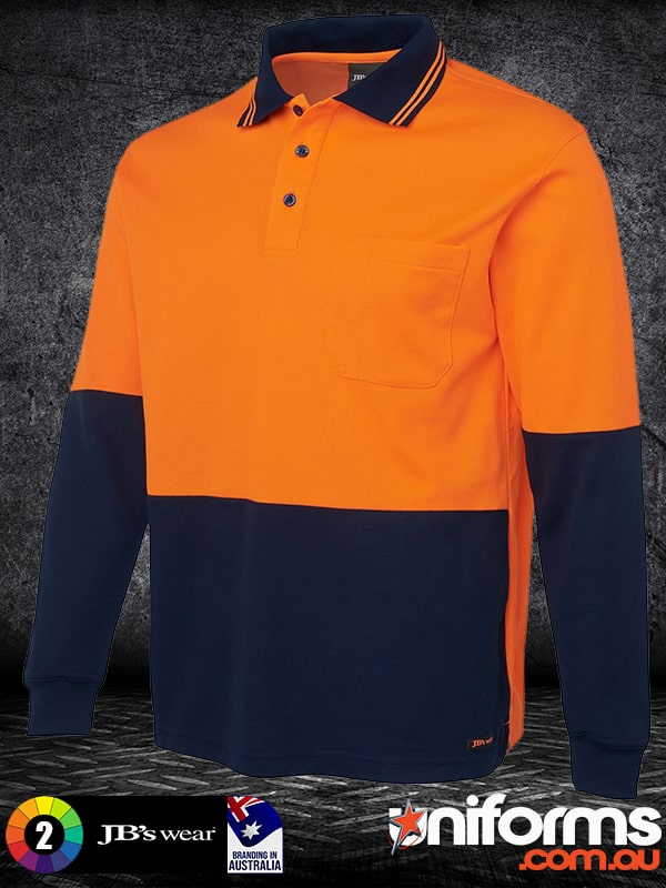 6HPL_HI_VIS_Long_Sleeve_COTTON_BACK_POLO_Orange_Navy__1592788847_878