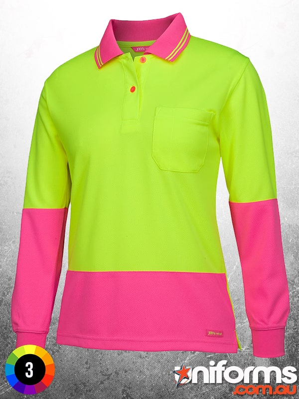 6LHCL_Ladies_Hi_Vis_Long_Sleeve_Comfort_Polo_Lime_and_Pink__1581565131_893