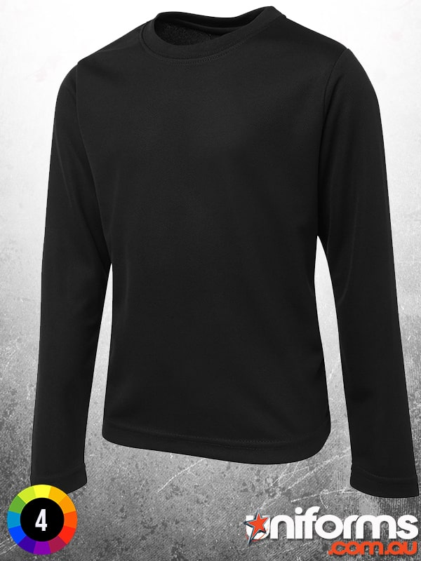 7PLFT Black Long Sleeve Poly Tee  1578896288 787
