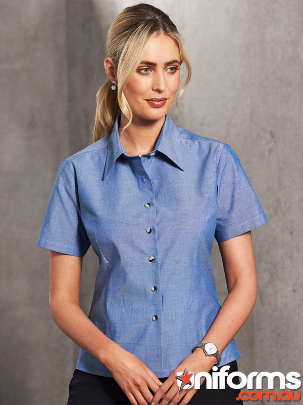 BS05 Ladies Chambray Short Sleeve  1563328930 193