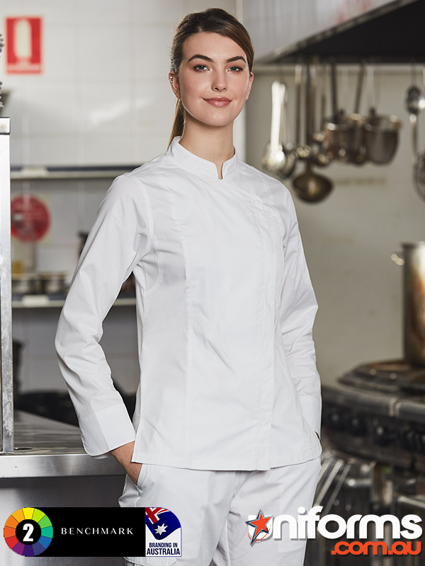 CJ04 LADIES FUNCTIONAL CHEF JACKETS  1589512944 920