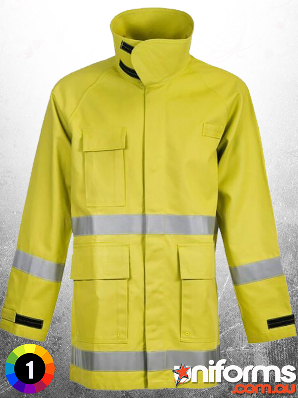 FWPJ105 Rangers Wildland Fire   Fighting Jacket With Fr Reflective Tape Front  1578455112 930