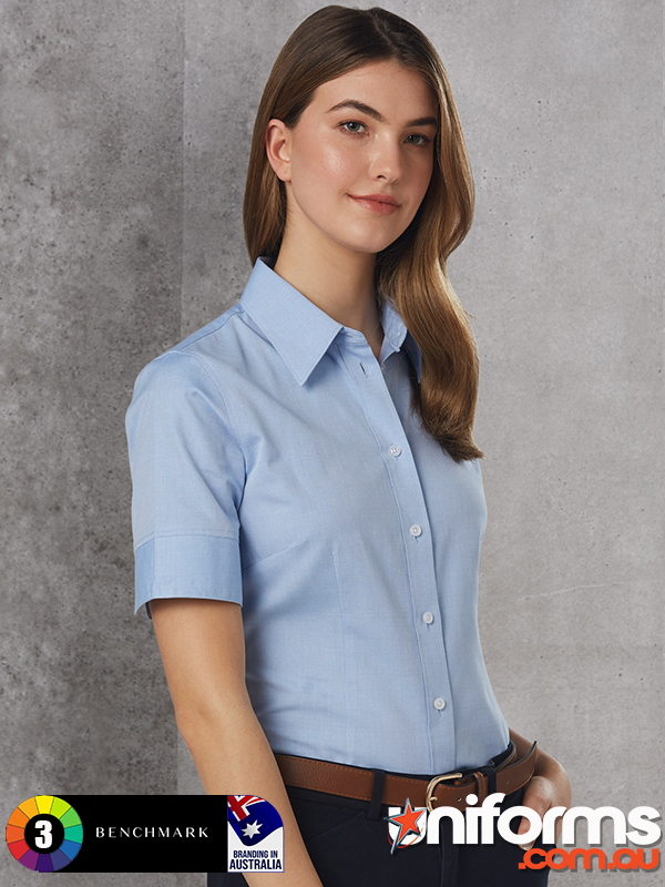 M8040S Women S CVC Oxford Short Sleeve Shirts  1590970338 396