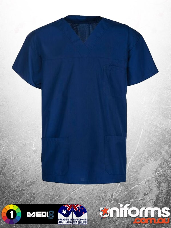 M88000 UNISEX SCRUB TOP WITH POCKETS Front  1603666875 184