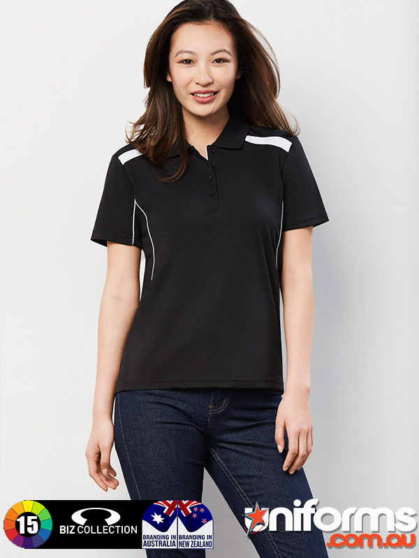 P244LS LADIES UNITED SHORT SLEEVE POLO Uniform  1610487405 885