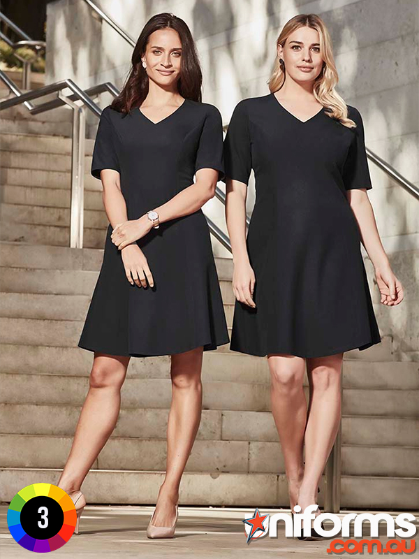 RD974L Biz Corporates Womens Siena Extended Sleeve Dress  1578357023 126