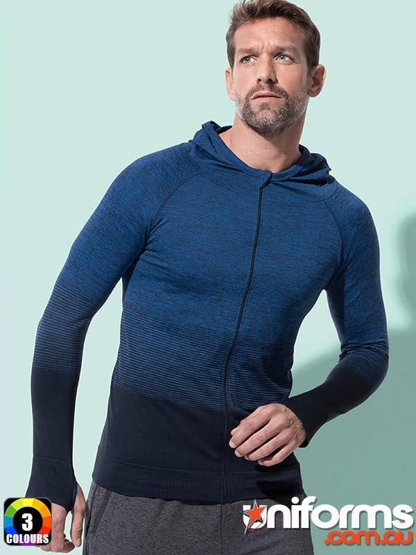 ST8820 Mens Active Seamless Jacket   BLUE  1588573471 861