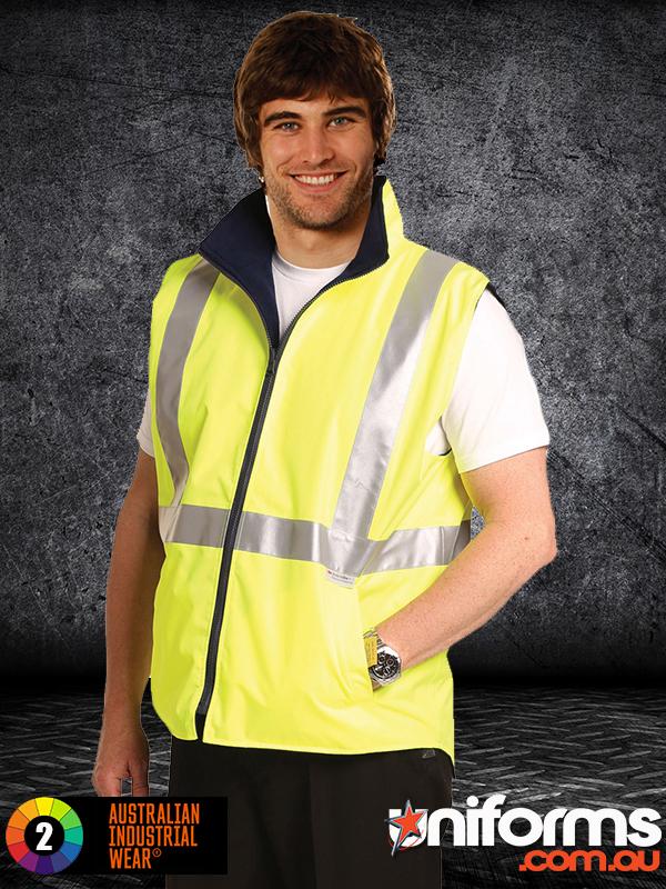SW19A HI VIS REVERSIBLE SAFETY VEST WITH 3M TAPES  1588997896 181