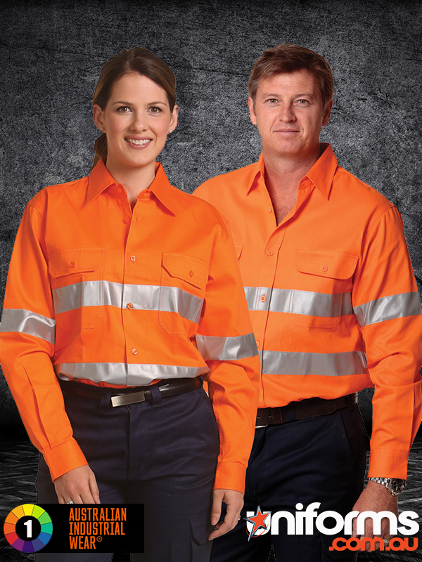 SW52 COTTON DRILL SAFETY SHIRT   Unisex  1589000430 873