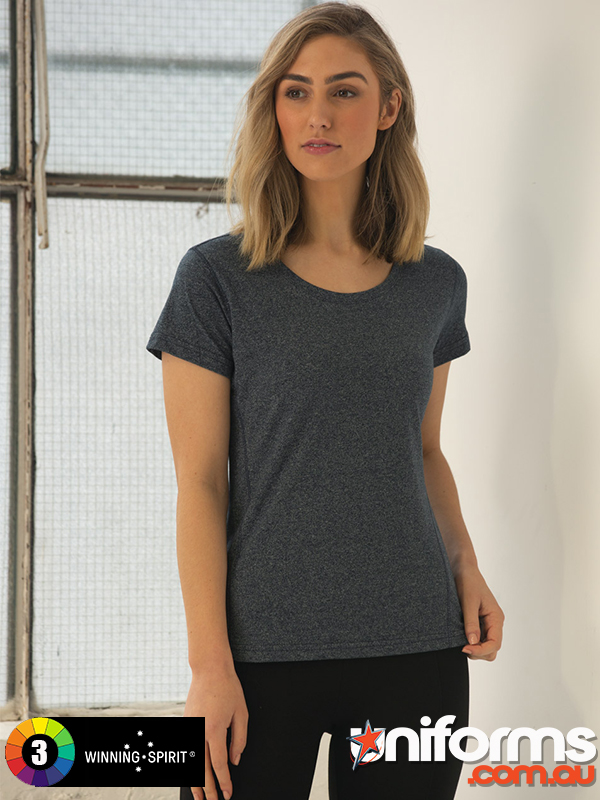 TS28 HIGH PERFORMANCE HEATHER TEE Ladies  1589011895 306