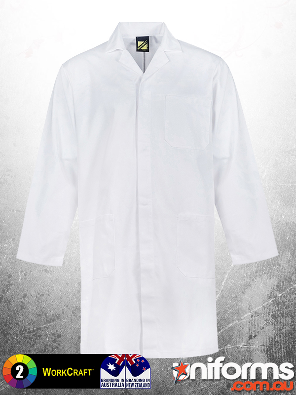 WJ057 Medi8 Adult Dust Lab Coat White  1612224152 67