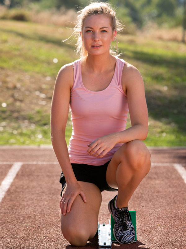 ts21 uniforms Ladies Fitted Stretch Singlet